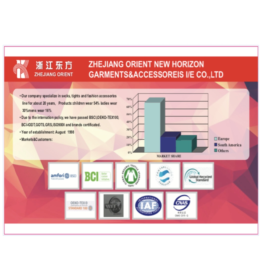 Zhejiang Orient New Horizon Garments&Accessories I/E CO.,LTD